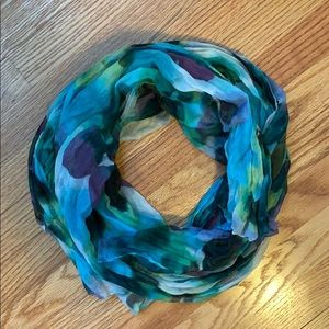 Pretty pansy watercolor scarf